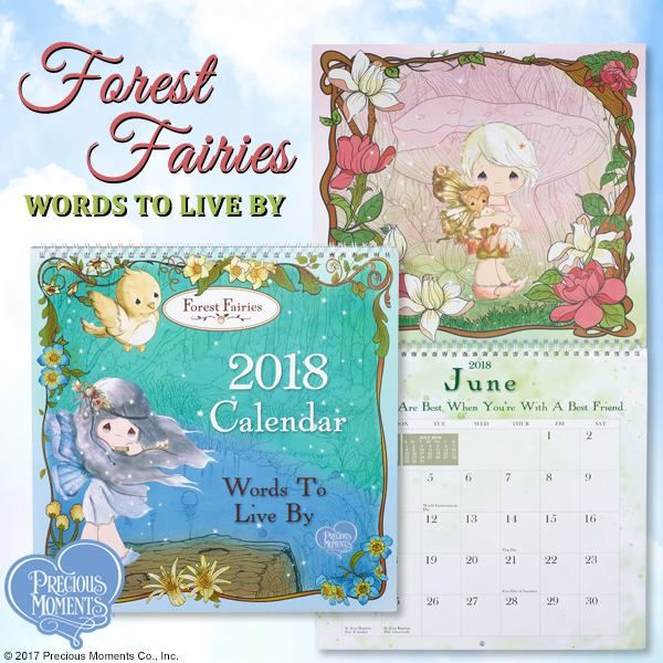 Forest Fairies, Words To Live By\u201d 2018 Wall Calendar Forest fairy