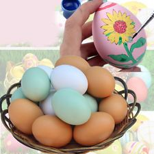 1Pc Painted Graffiti Wood Chicken Egg Hen Easter Egg Decoration Dummy Nesting $2 ebay china