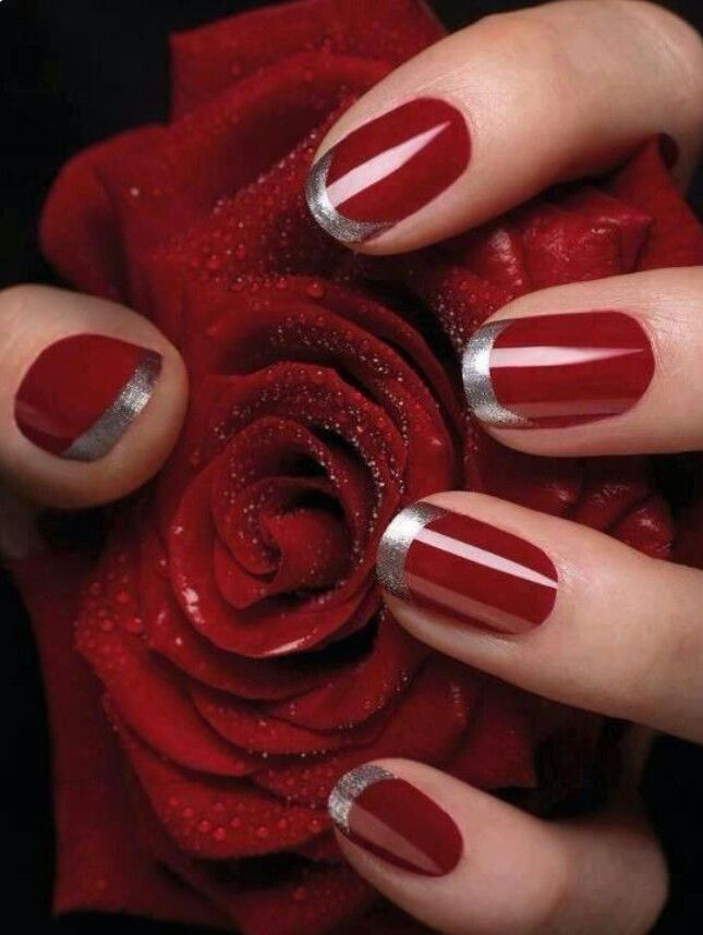 Red w/ silver tips