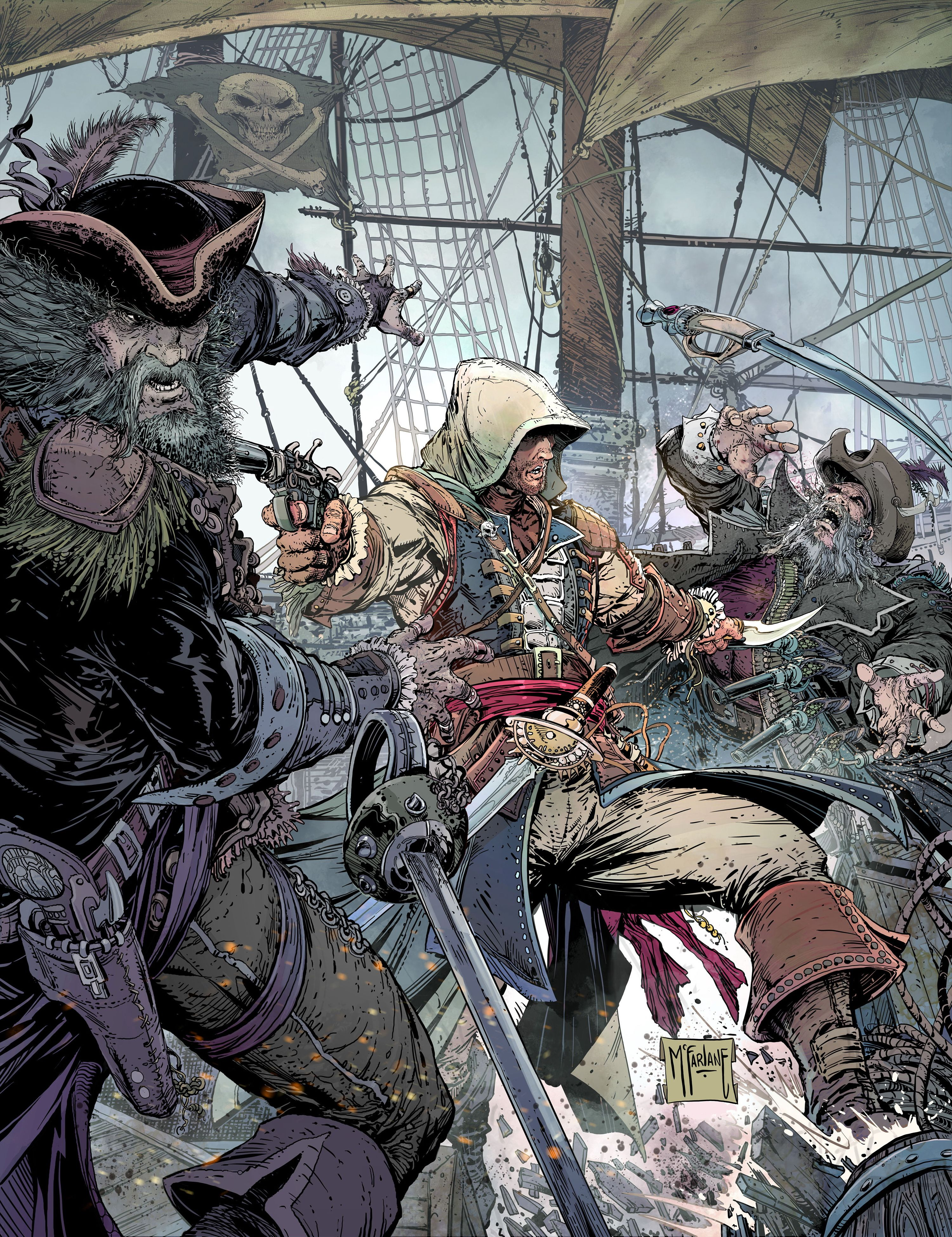 AC4 by Todd McFarlane--- awesome poster