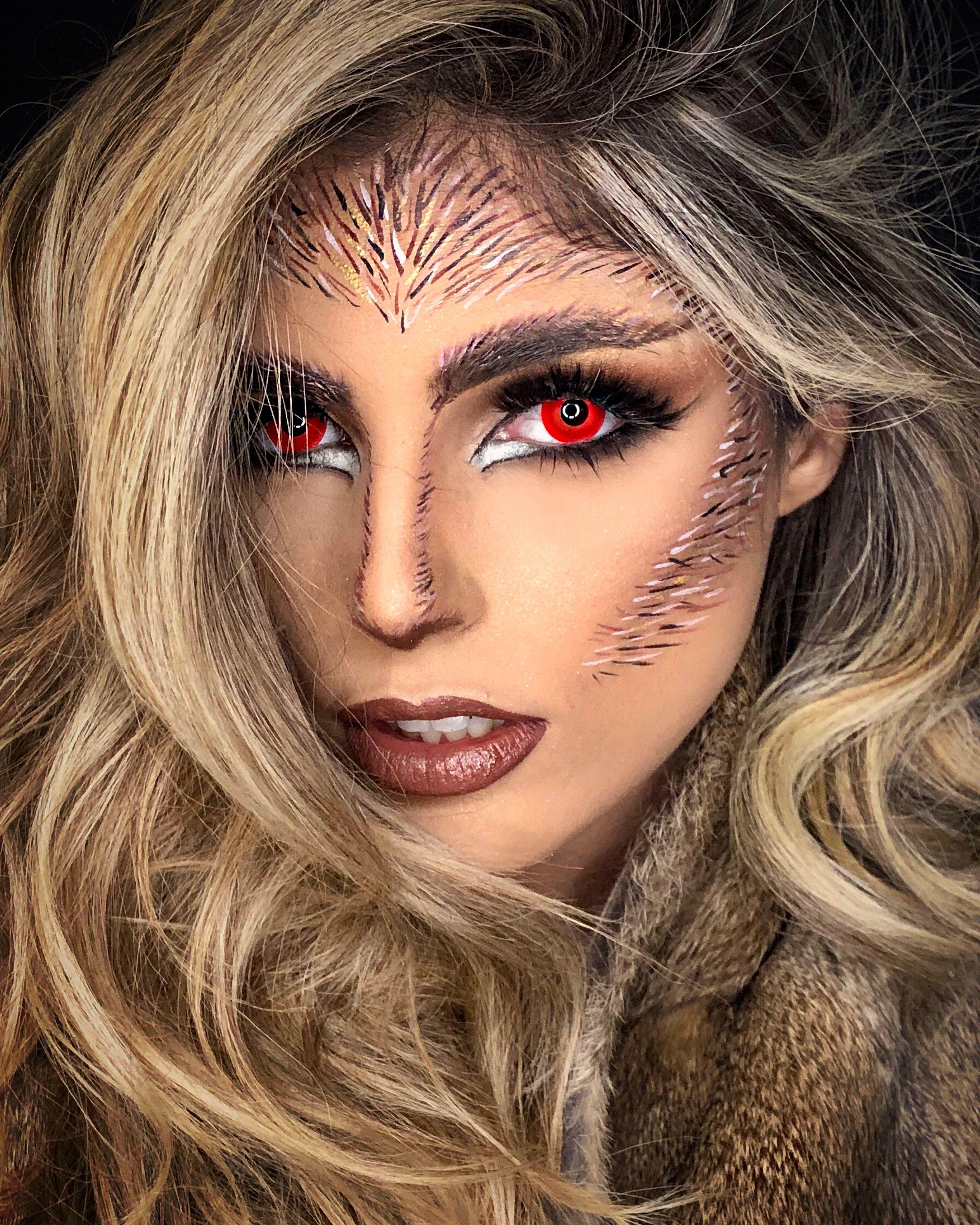 Warewolf feminina 🐺 maquiagem artística by