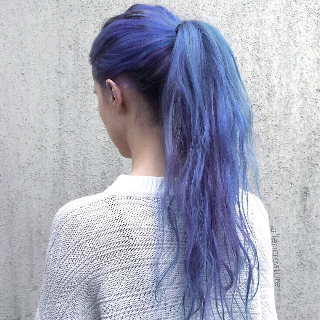 Blue pastel and purple hair photo pictures