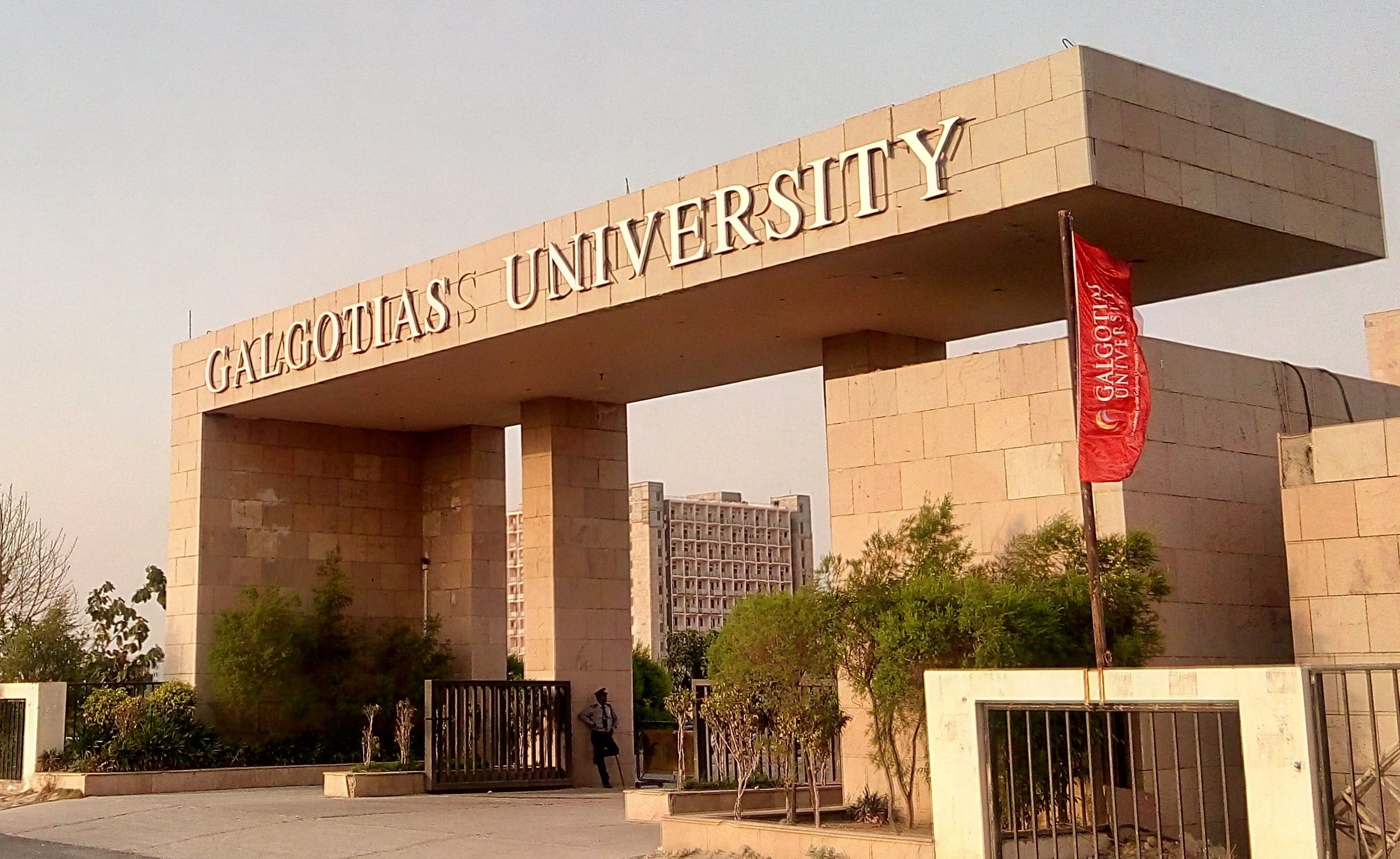 Galgotias University, is one of the coeducational private