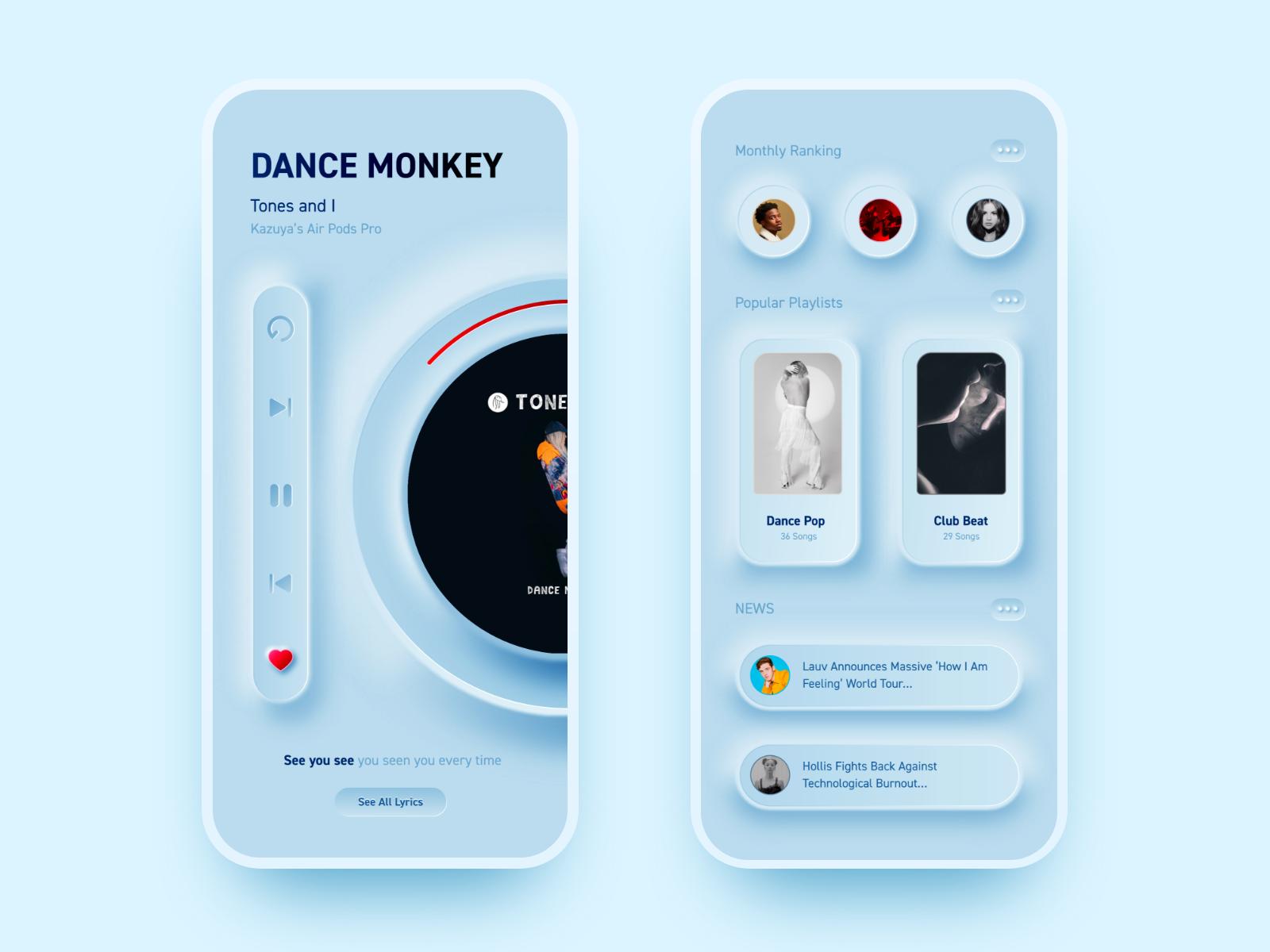 Neumorphic Music App In 2020