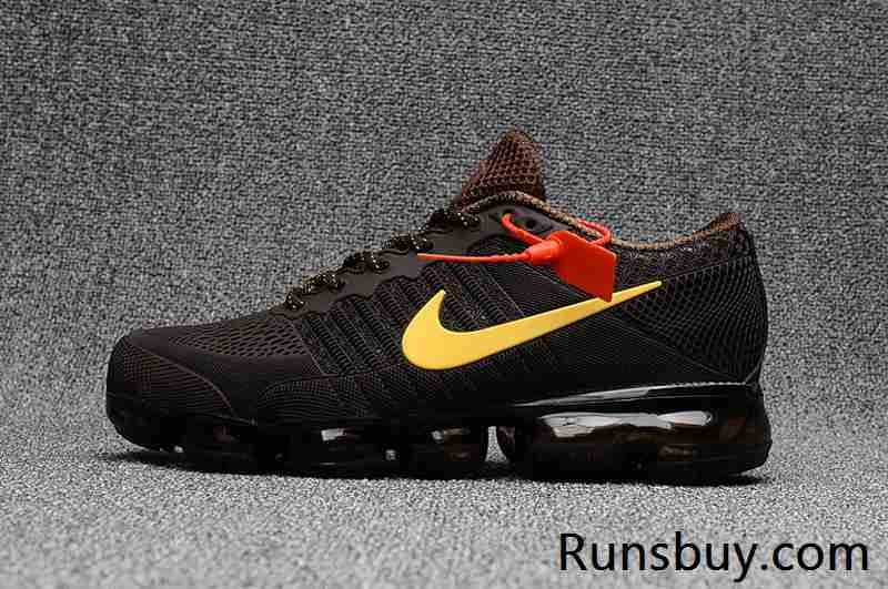 New Coming Nike Air VaporMax 2018 KPU Brown Yellow Men 4047
