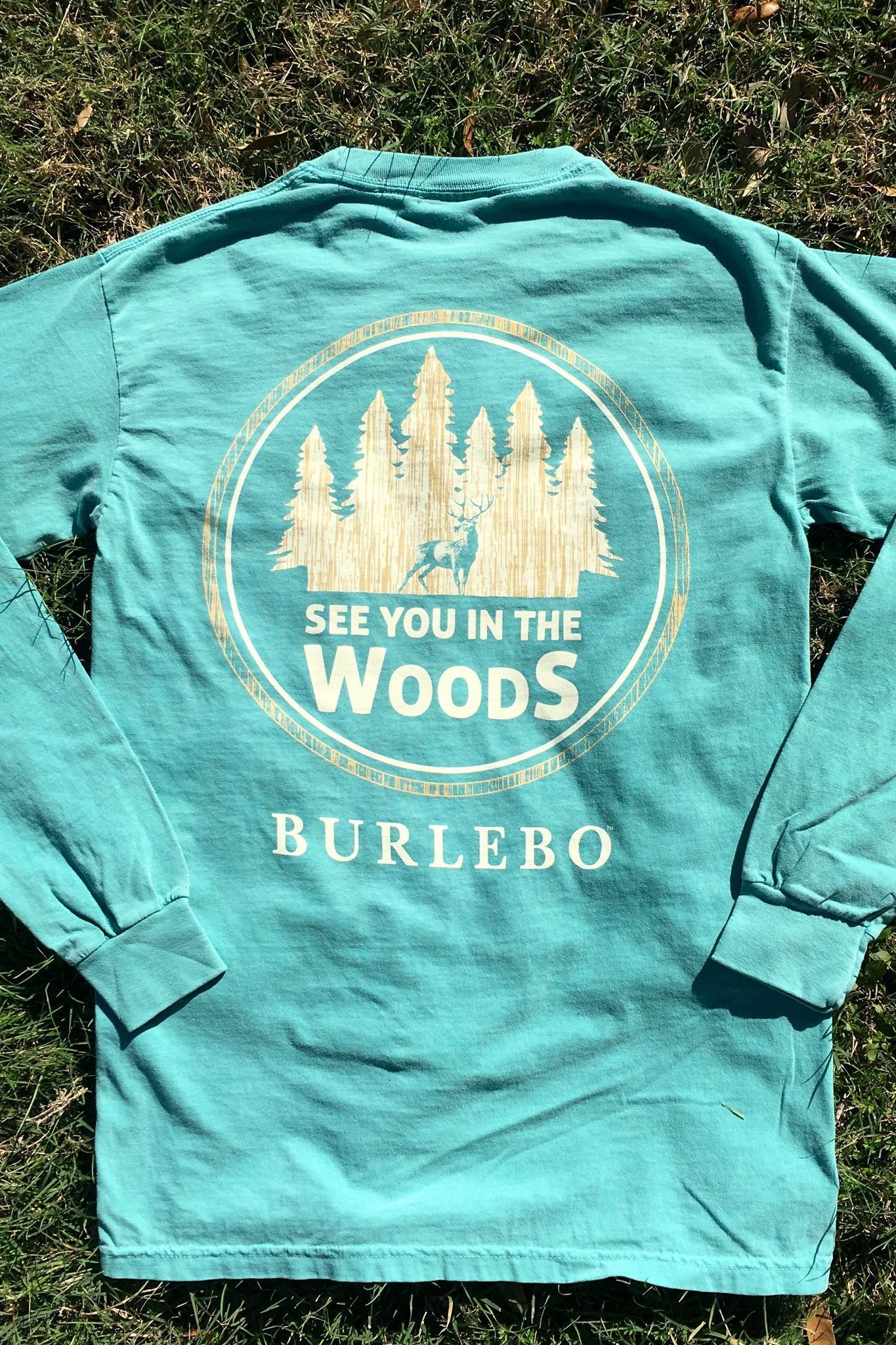 See You In The Woods Seafoam LS Pocket (With images