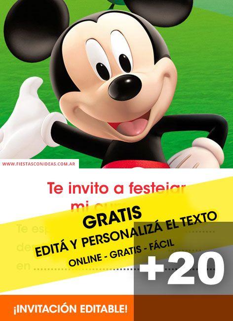Te Presentamos 20 Tarjetas De Cumpleaños De Mickey Mouse