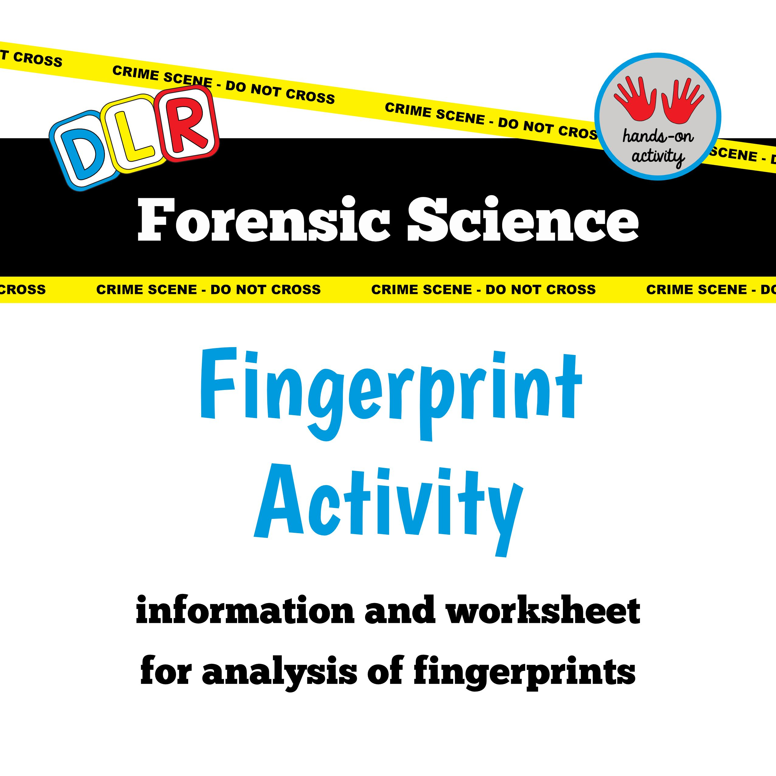 worksheet Forensic Science Worksheets forensic science gingerbread house mystery 3d model activity free worksheet fingerprint