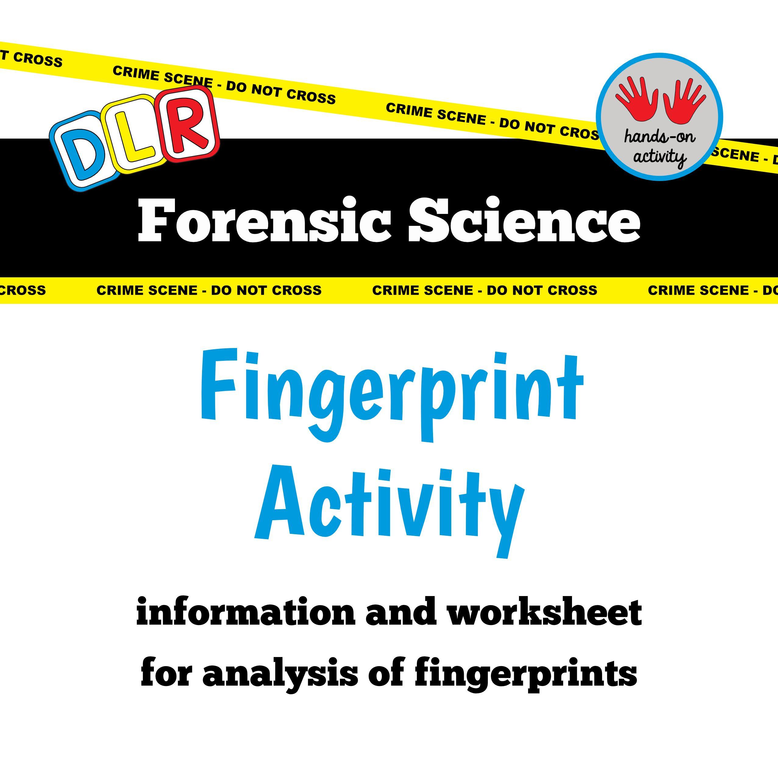 31 Forensic Science Fingerprints Worksheet