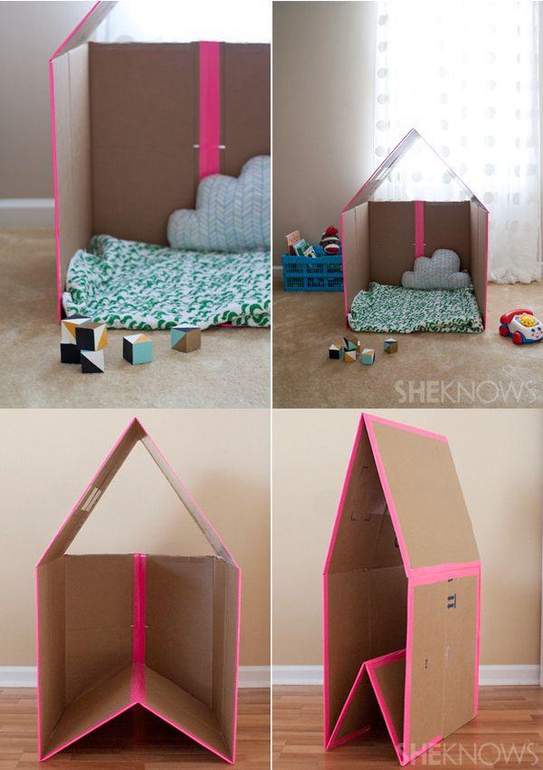 Manualidades con cart n 5 juguetes caseros reciclados - Casitas de juguete para ninas ...