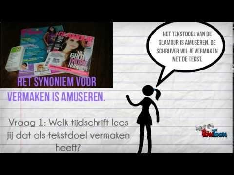 (1) Hfst. 5 lezen, tekstdoelen - YouTube