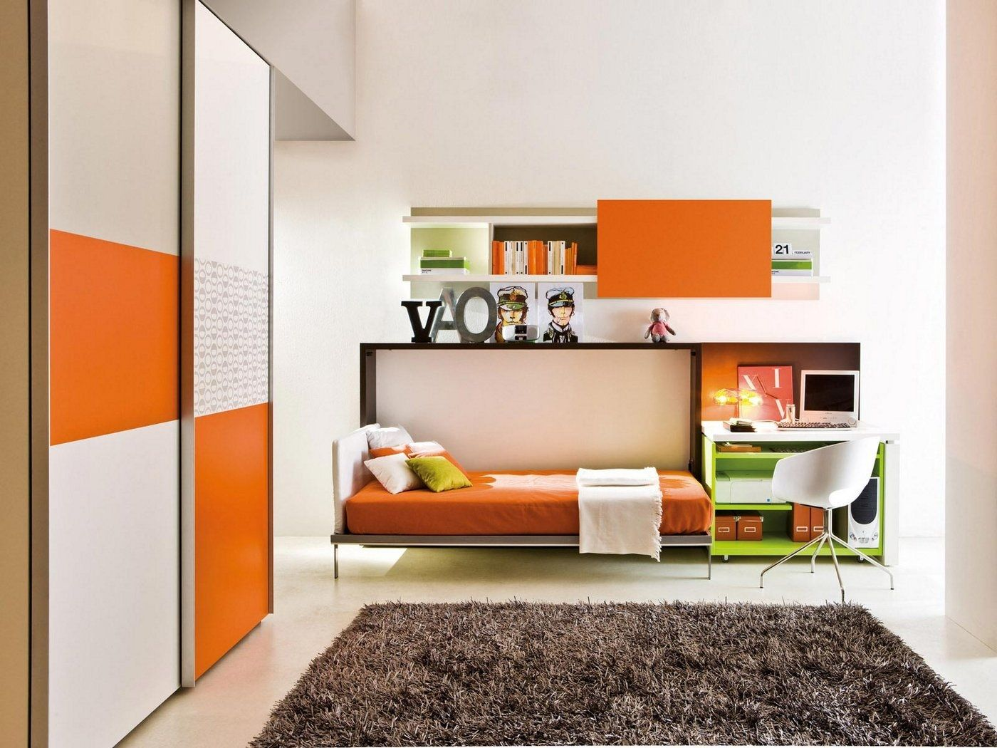 Wall Beds With Desk, Poppi SD All Bed Desk   Lawrance Furniture