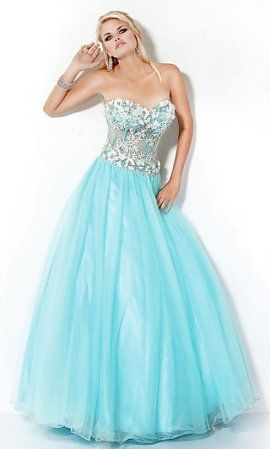 blue sweetheart mesh corset tulle jo173351 ball gown with