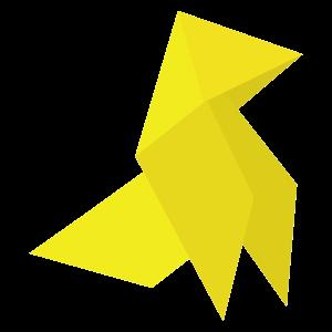 Sticker cocotte en papier jaune disponible en diff rentes Papier a coller sur meuble