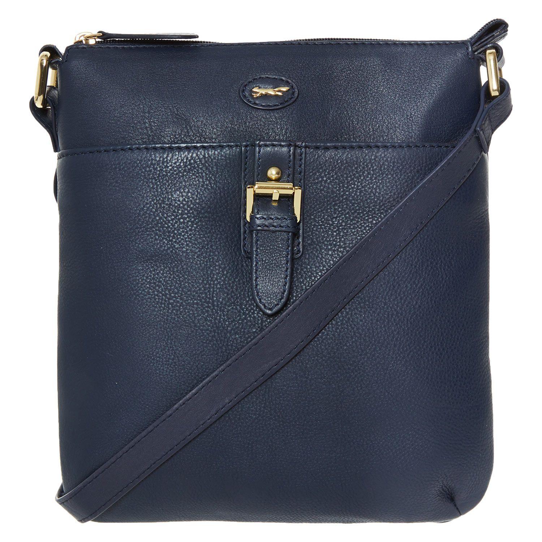 Paul Costelloe Blue Leather Cross Body Bag Tk Ma
