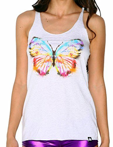 INTO THE AM Brushed Butterfly Rave Tank Top Small >>> Check this awesome product by going to the link at the image.