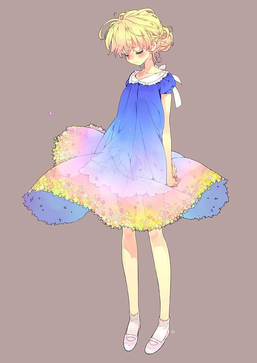 星空ドレス 完全無料画像検索のプリ画像 Character Design Colours