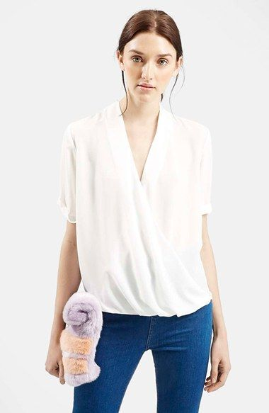 Topshop+Drape+Front+Chiffon+Blouse+available+at+#Nordstrom