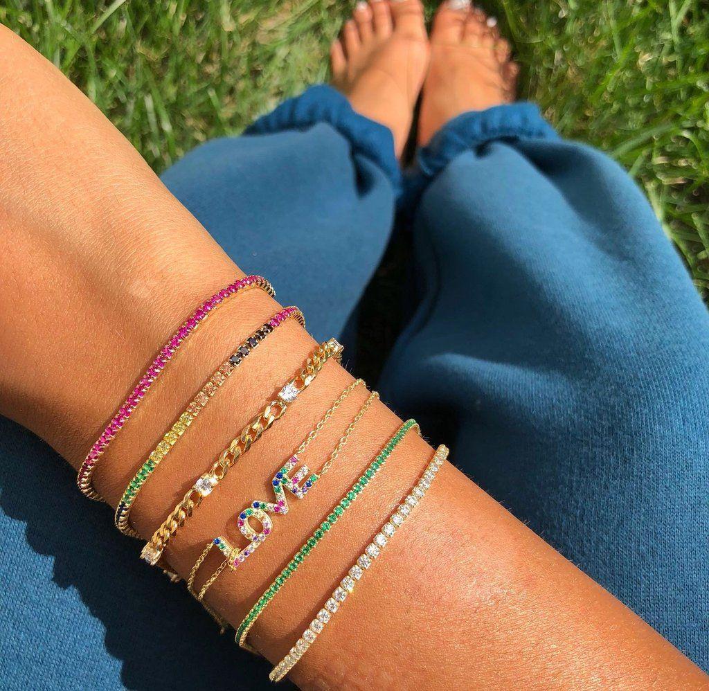 Tennis Bracelet Trendy Bracelets Stylish Bracelet Textured Bracelet