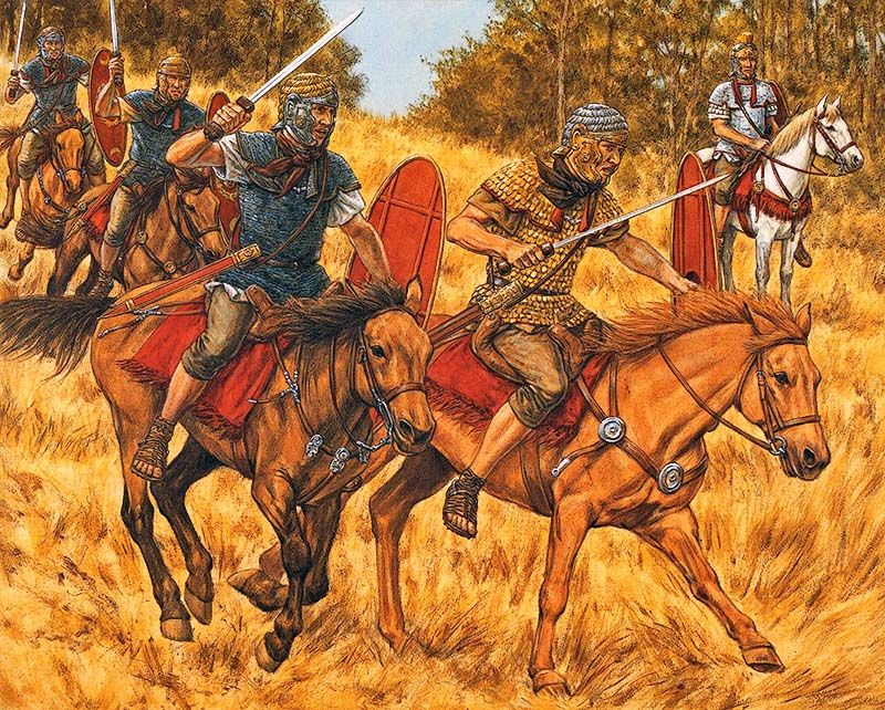 """Roman auxiliary cavalryman - Training"""