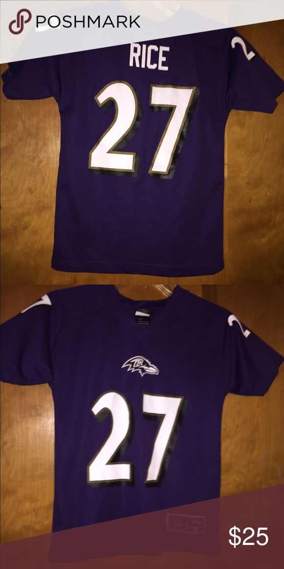 Kids youth Baltimore Ravens ray rice  27 jersey 8 Kids youth Baltimore  Ravens ray rice  27 jersey size s (kids 8). In great like new condition.  Smoke free. a3a5e4ea9