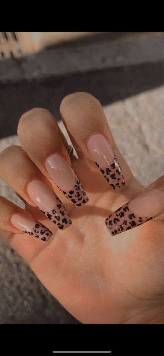 Leopard Nails In 2020 Leopard Nails Retro Nails Halloween Acrylic Nails