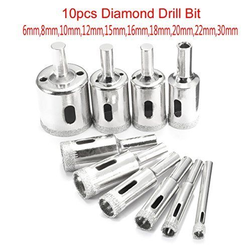 Mtp Tm 60 Pcs Diamond Burr Bits Drill Glass Gemstone Metal For Dremel Craftsman Rotary Tool 1 X2f 8 Quot Shanks W X2 Drill Bits Drill Bit Sets Glass Ceramic