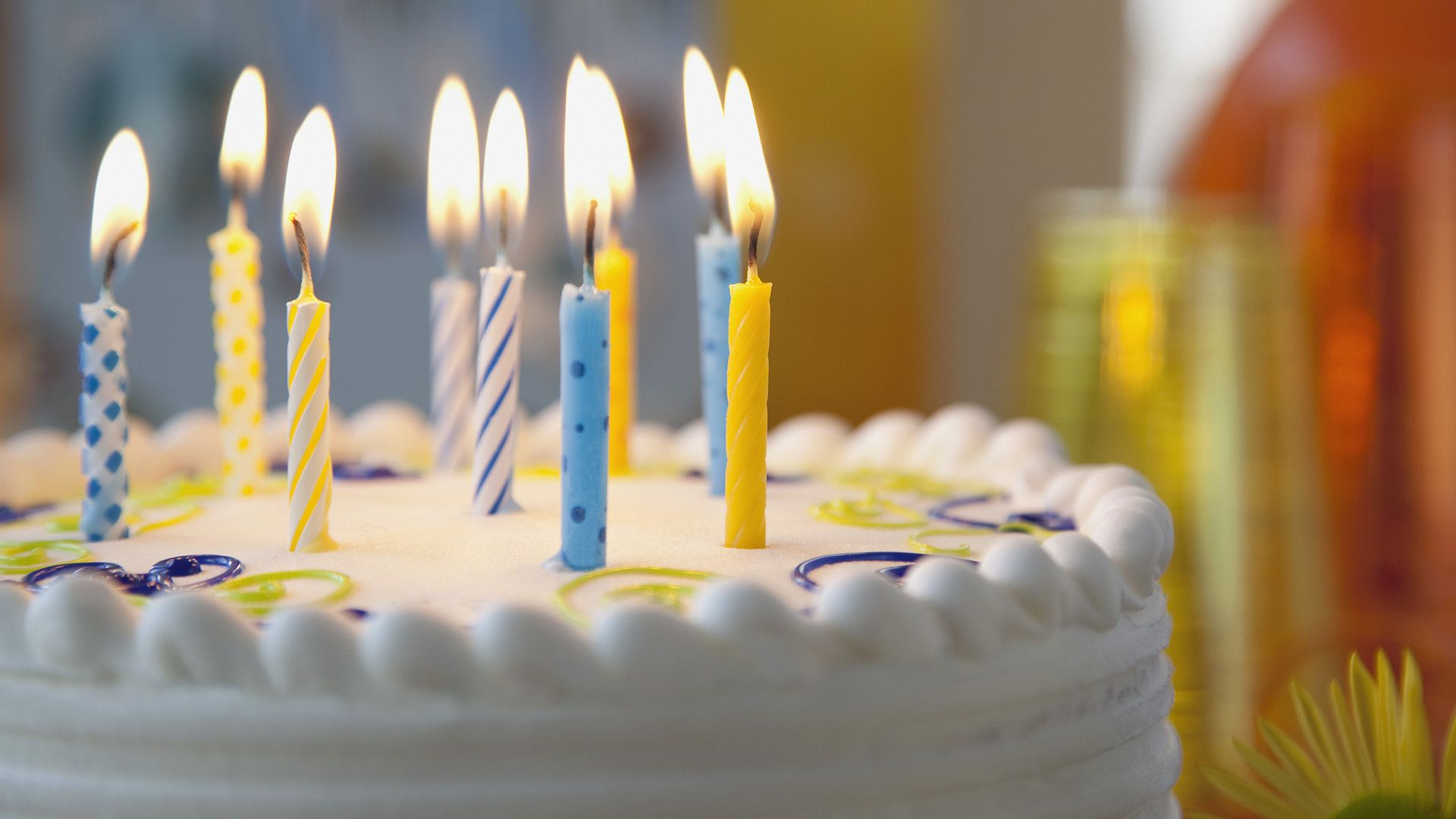 Hd wallpaper birthday - Birthday Candle Cake And Candle Celebration