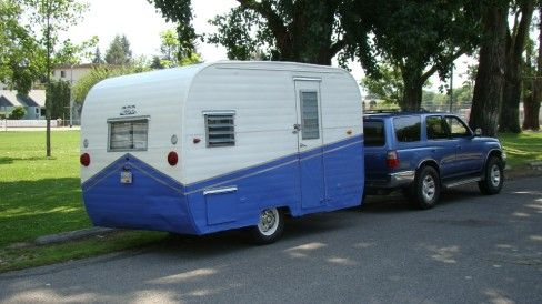 1957 Aloha 14 1 850 Refurbished Throughout Ready To Roll Tin Can Tourist Vintage Camper Vintage Campers For Sale