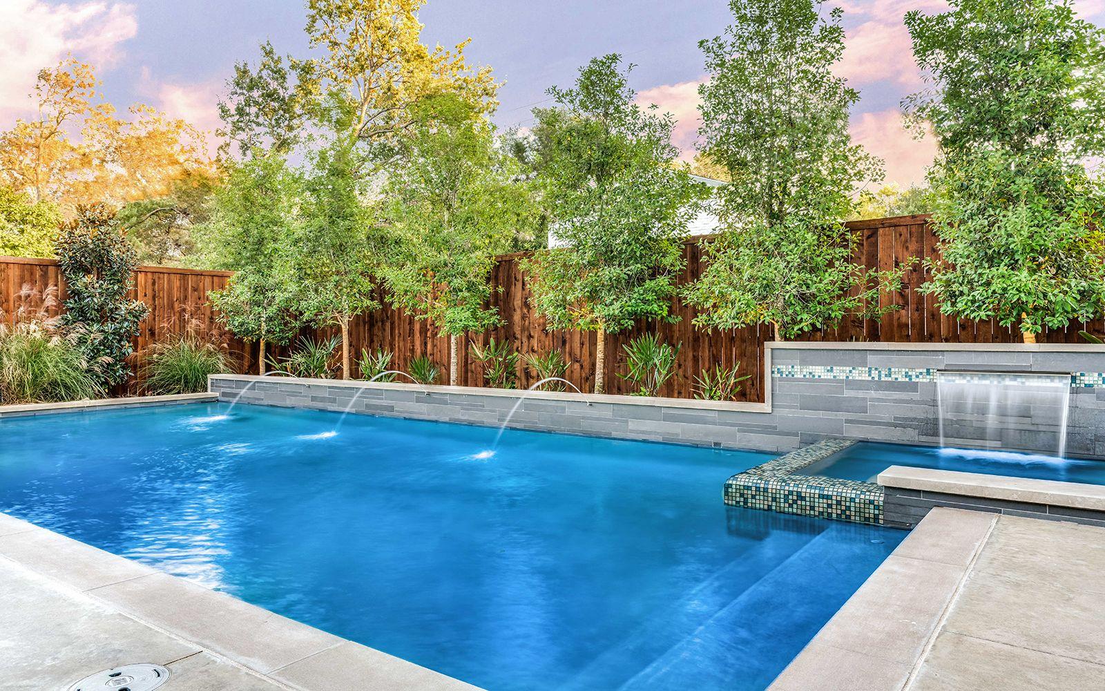 Ddla Design Landscape Architecture Modern Pool Spa Lakewood Dallas Texas Landscaping Around Pool Pool Landscaping Pools Backyard Inground