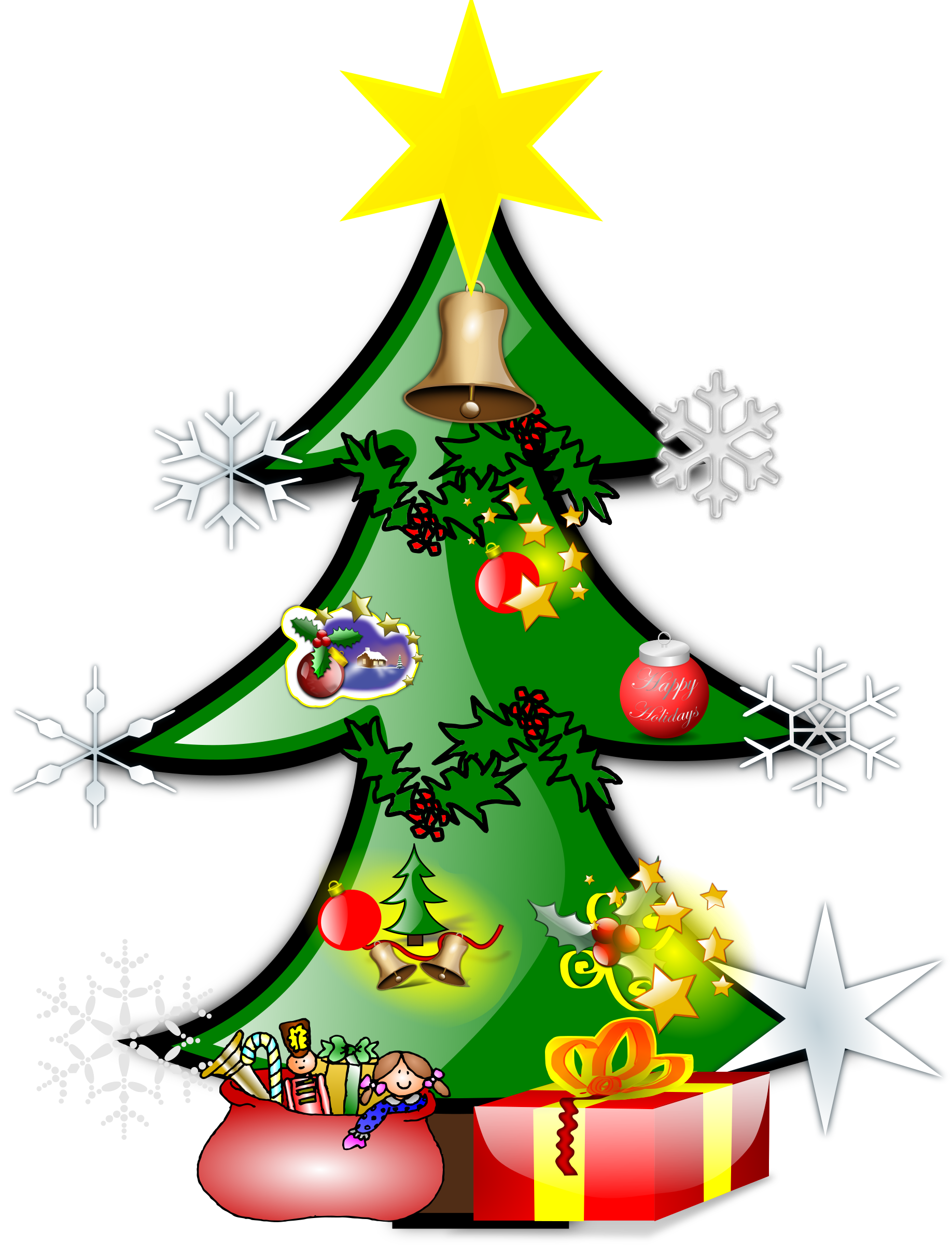 Christmas tree by @star4clover, Christmas tree, on @openclipart ...
