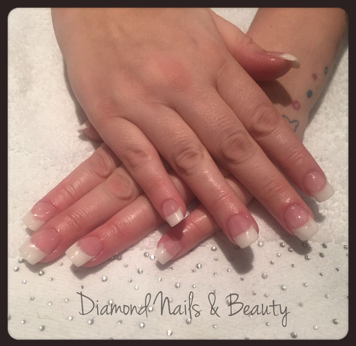 NSI french acrylic nails done whilst still training. www.facebook ...