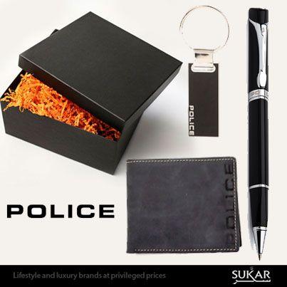أفكار هدايا من الماركة الشهيرة بوليس أقلام ومحافظ وقلادة مفاتيح على موقع سكر للتسوق Www Sukar Com Mens Fashion Accessories Style