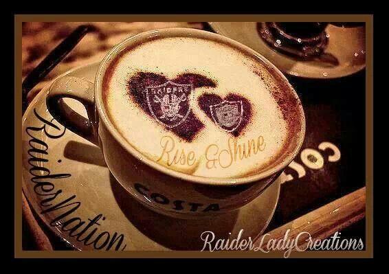 Good morning my Raider fam | Coffee heart, Coffee love, Coffee addict