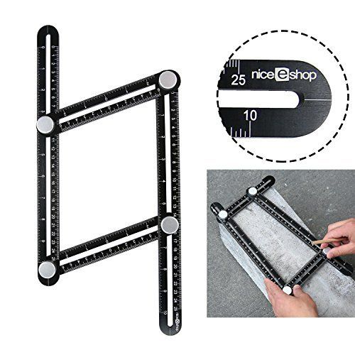 NEW DESIGN: SIZEors Measurement Template Tool for Tiling, Bricks and Construction Projects, Accurate Measuring for DIY Craftsmen: Metal Bolts /Knobs for Secure Locking -Good Idea for Father's Day Gift