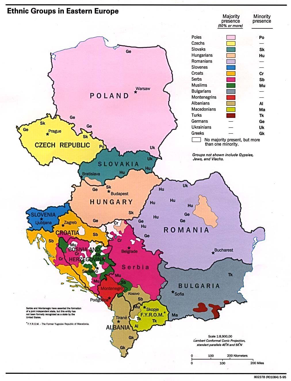 Ethnic map of Eastern Europe. | Maps | Pinterest | Eastern europe ...