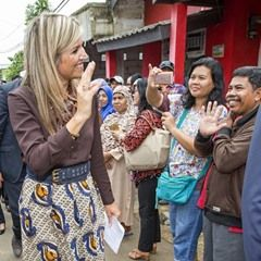 Queen Maxima continues her visit around Indonesia for the UN