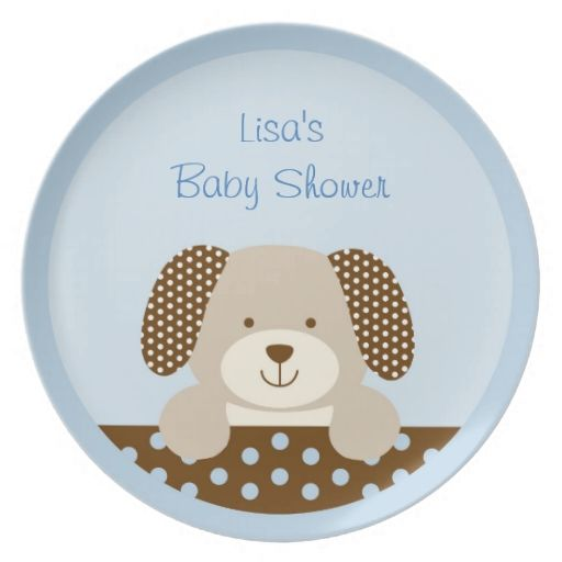Cute Puppy Personalized Plate