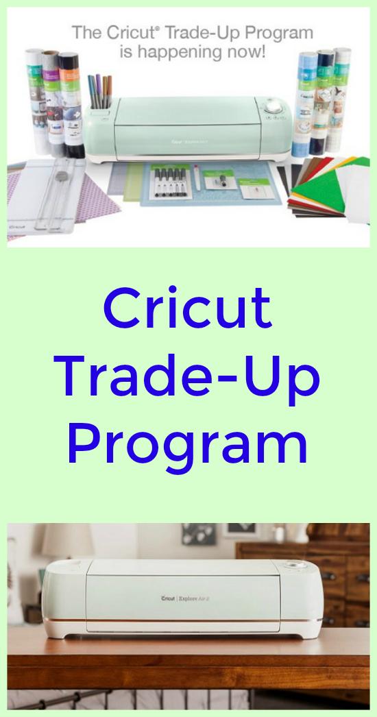 With The Cricut Trade Up Program You Can Get 50 Off A Cricut Explore Air 2 Mint Everything Bundle When You Trade Cricut Cricut Birthday Cards Circuit Machine