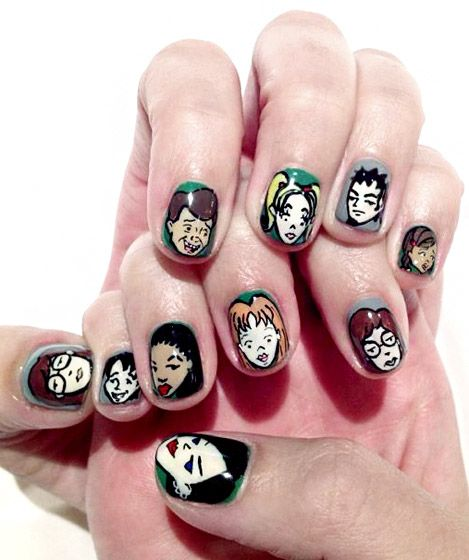 Katy Perrys Crazy Nail Art Katy Perry Tokyo And Cartoon Nail Designs