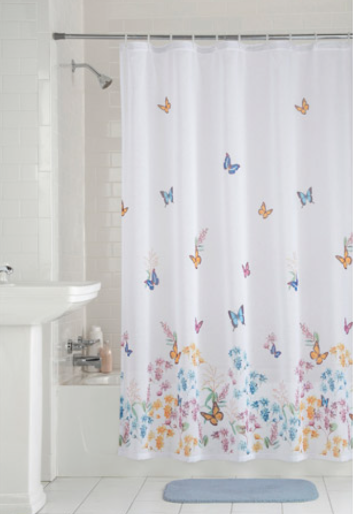 Shower Curtain Backdrops Butterfly Shower Curtain Shower