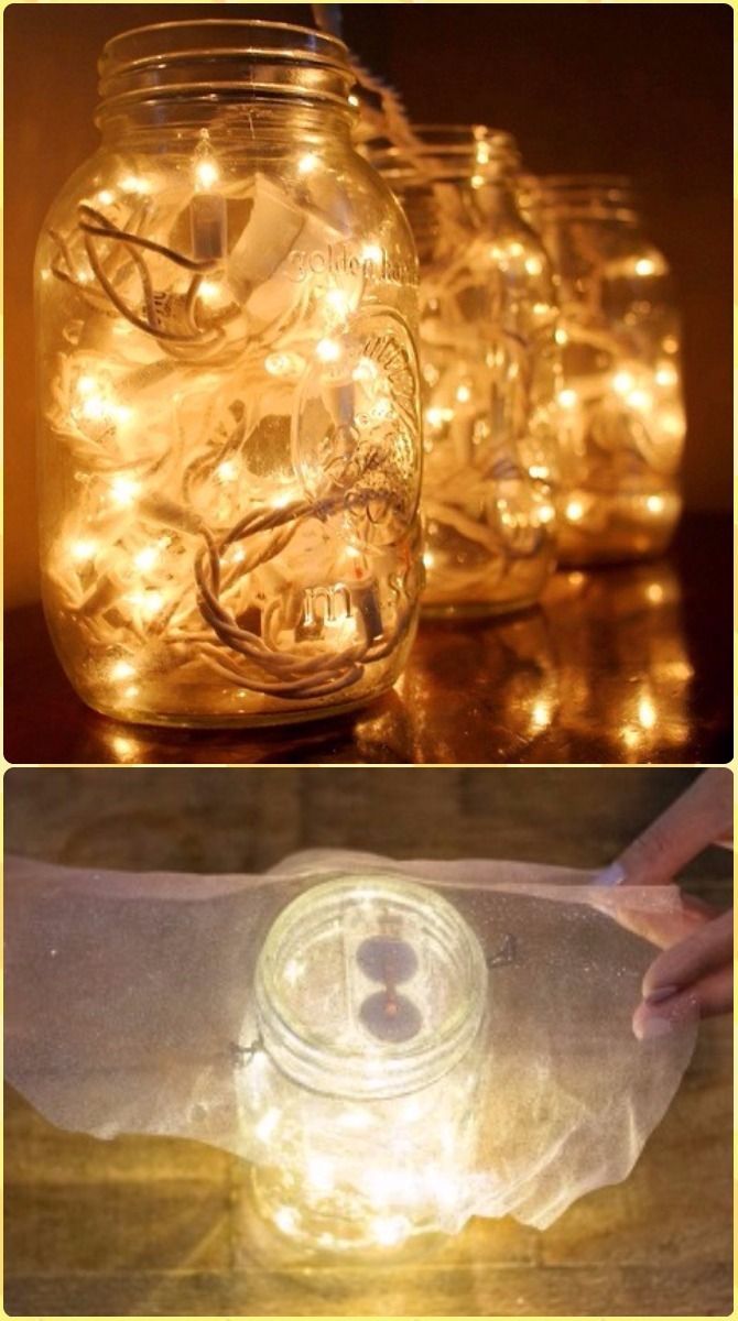 Diy Hanging Mason Jar Mason Jar Fairy Lights Instruction Diy