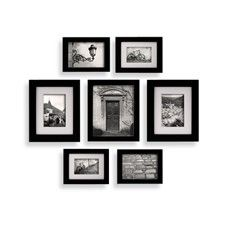 Create A Gallery Snapshot 7 Piece Frame Set Black Wall Frame Set Frames On Wall Picture Frame Wall