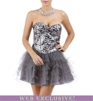 Kennalee-Charcoal Homecoming Dress