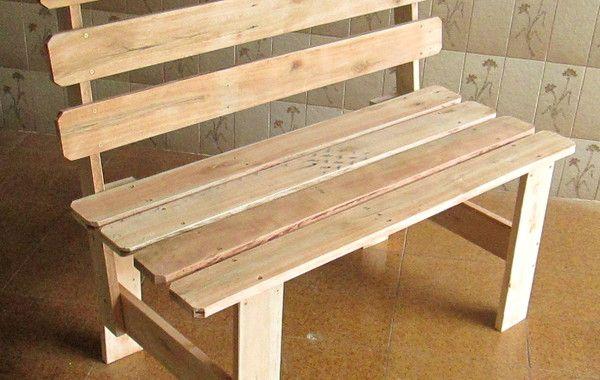 Banco De Madeira Pallet Reciclado Com Encosto No Elo7 Design Em