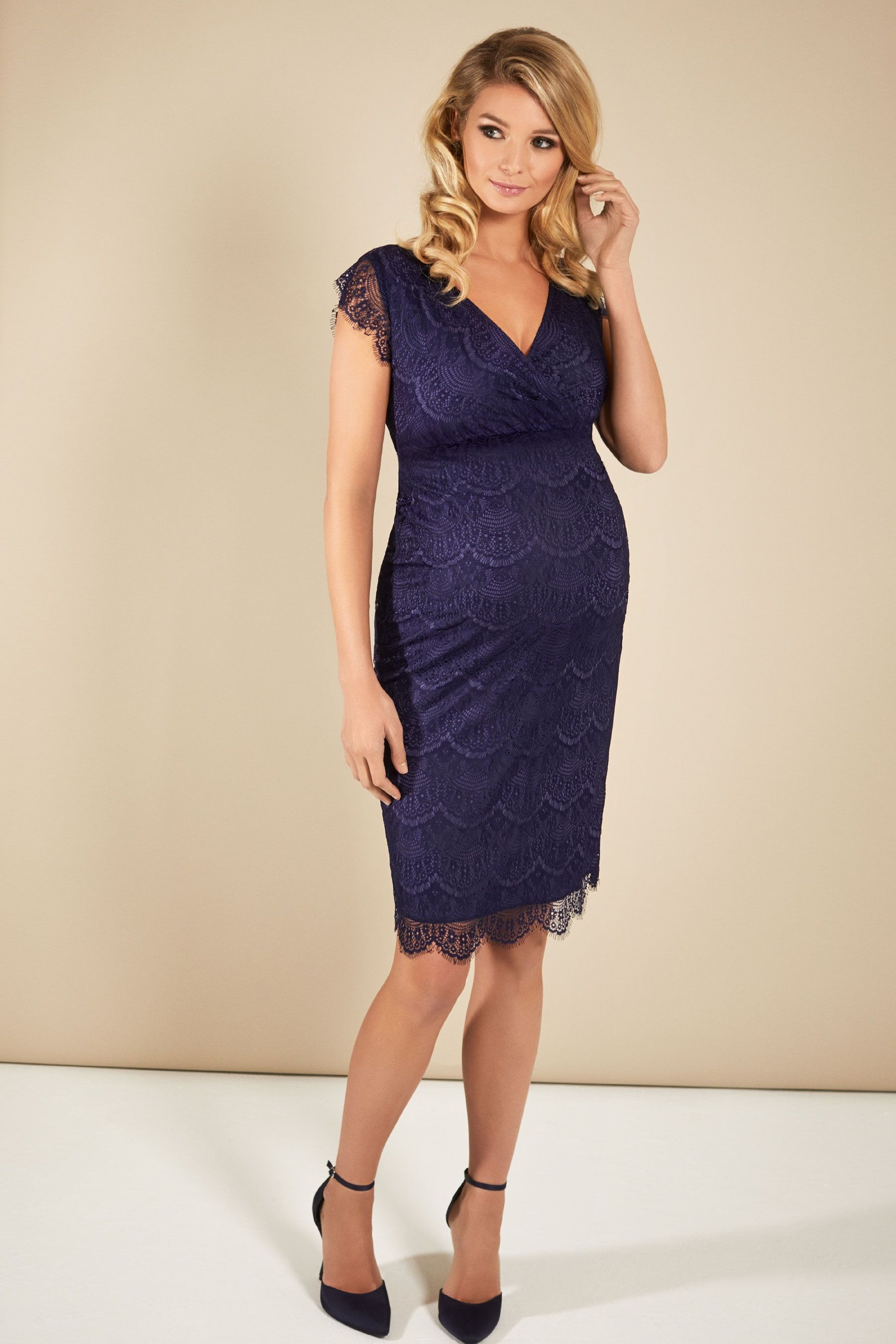 "5835c567a9e5 Buy ""Tiffany Rose Imogen Shift Maternity Lace Dress In Dusk Blue"" in Canada  at SevenWomen. This product is sophisticated, stylish and sexy in equal  measure."