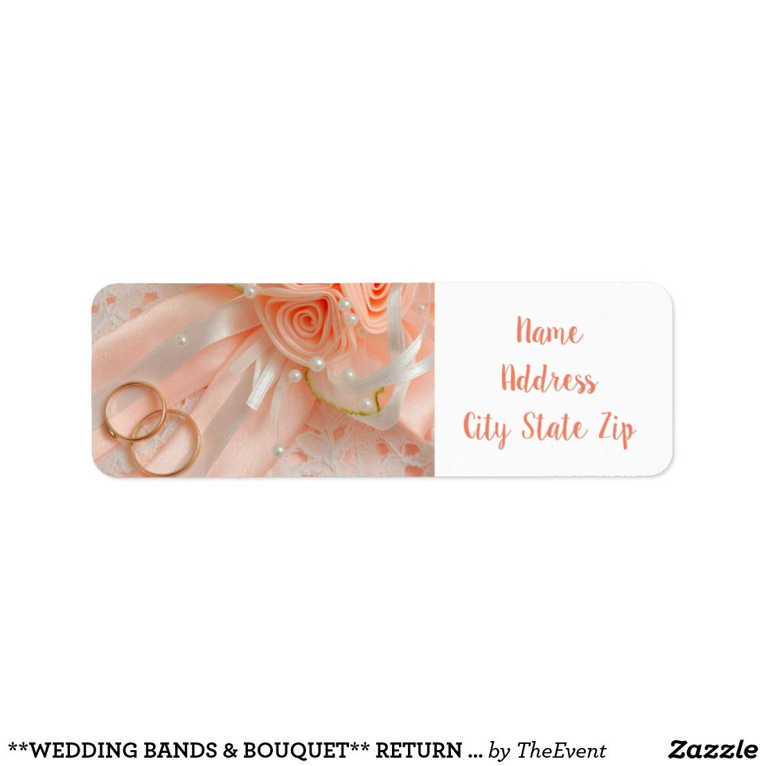 It is a photo of Slobbery Newlywed Return Address Labels