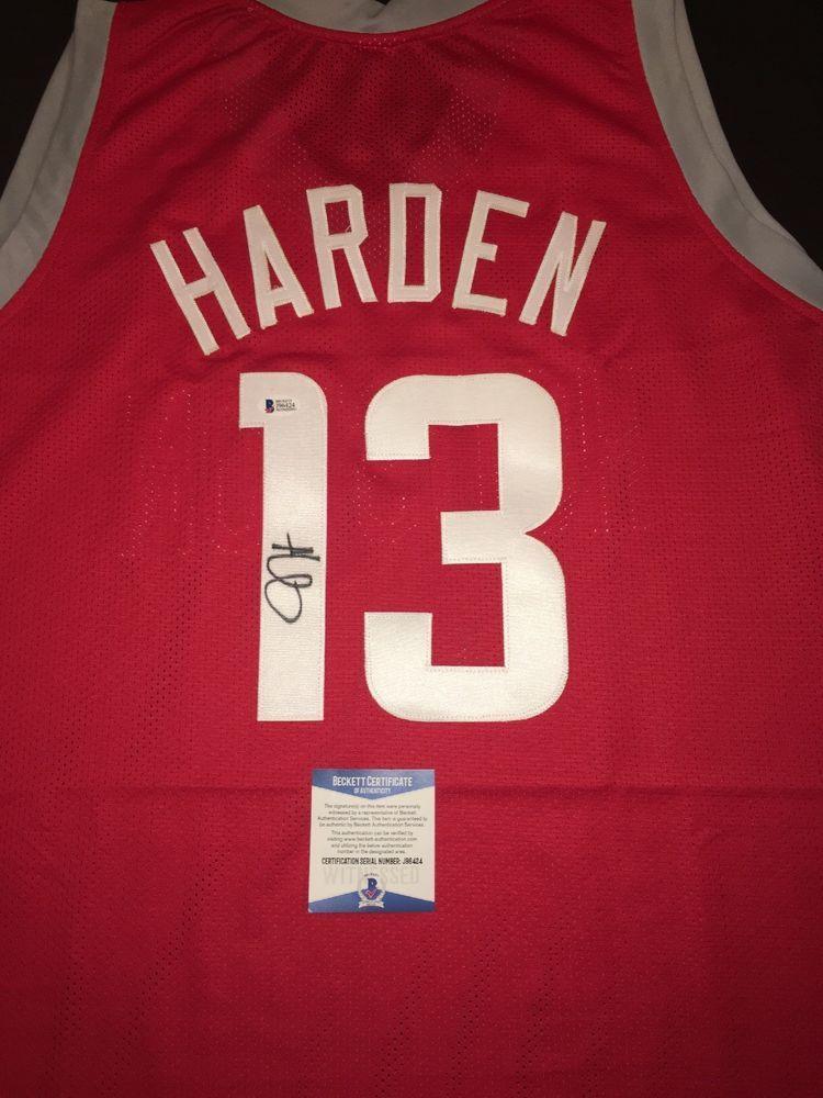 3fe89d509 eBay  Sponsored James Harden Rockets Autographed Sz 52 Basketball Jersey  BAS Beckett (JSA PSA