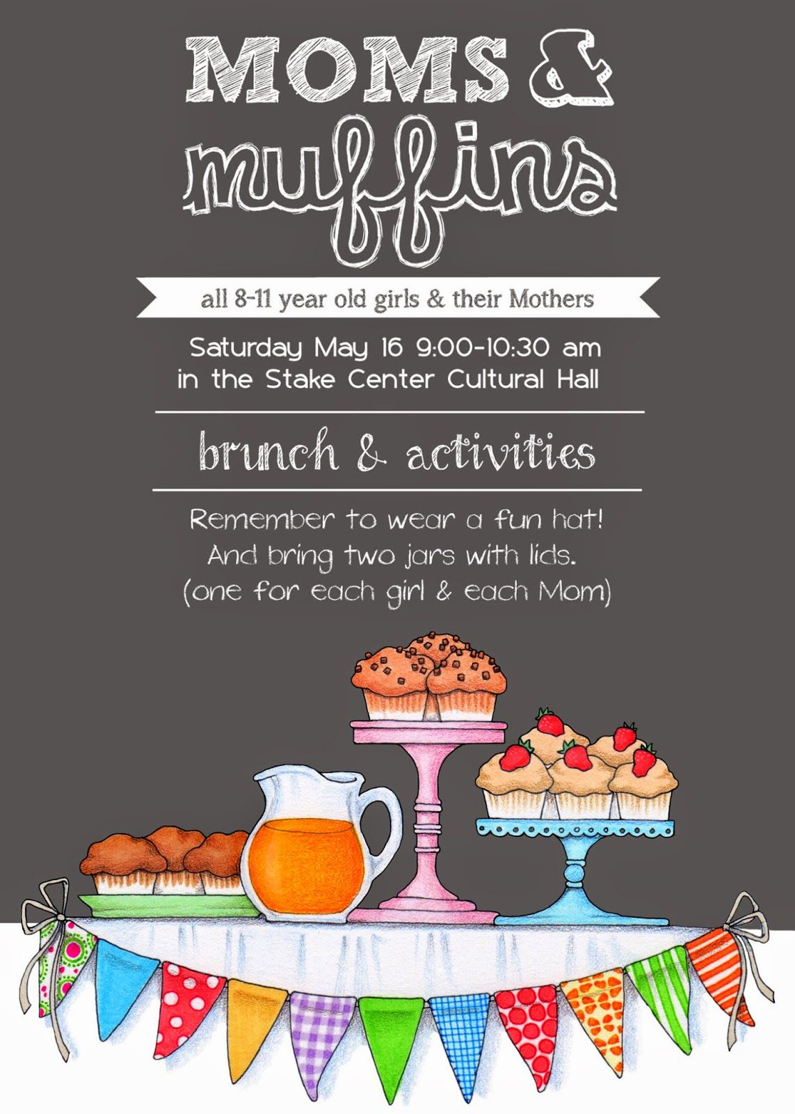 i just made this invitation for our activity days mother daughter