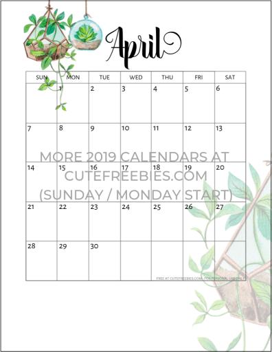 2020 2021 Calendar Free Printable Plants Theme Cute Freebies For You Calendar Printables Monthly Calendar Printable Free Printable Calendar Monthly